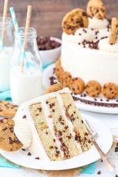 Milch und Kekse Layer Cake – Schokoladenkuchen – Ideen für Schokoladenkuchen #Chocolat …   – Cake