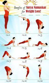 Yoga zur Gewichtsreduktion: Surya Namaskar Vorteile zur Gewichtsreduktion!