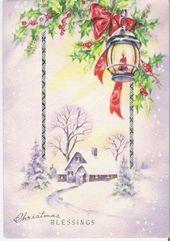 Photo of Neue Tapete Vintage alte Weihnachtskarten Ideen #vintage # Tapete Neue Tappap …