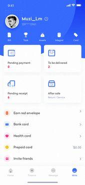 Diseño de interfaz de la aplicación Wallet – 2 en   – Mobile app ui&ux