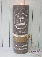Hochzeitskerze, Hochzeit Traukerze, Trauung, bruil…