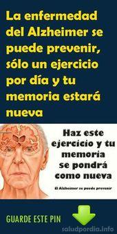 La enfermedad del Alzheimer puede prevenir, solo un ejercicio por día y tu memoria estará nueva  – Belleza