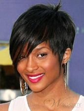 Ciara Short Straight Human Hair Capless Wigs
