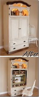 Tutorial: Make A Sewing Cabinet From A TV Armoire