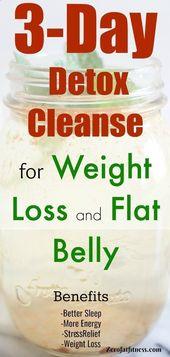 3-tägige Detox-Reinigungsdiät für schnellen Gewichtsverlust und flachen Magen …   – Detox Ideen