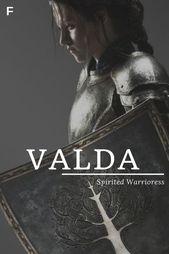 """Valda, was """"Spirited Warrioress"""" bedeutet, altnordische / deutsche Namen, V Babynamen, V …   – Babies Names Unique"""