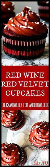 Red Wine Red Velvet Cupcakes    Lecker    Cakes Red WineRed Velvet Small Lecker … – Kuchen