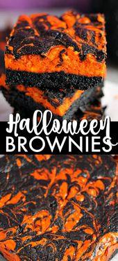 Halloween Cream Cheese Swirl Brownies – Halloween