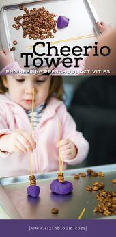 Cheerio Towers – Engineering Vorschulaktivitäten   – Preschool