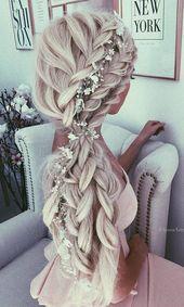 40 lange Hochzeitsfrisuren von 5 besten Instagram-Frisuren – Frisuren Ideen
