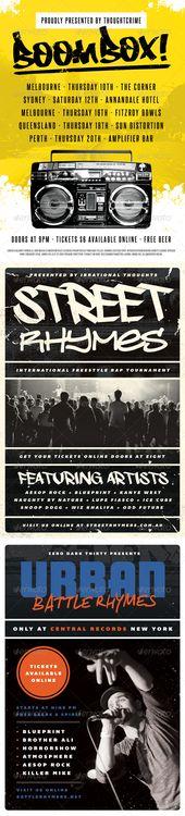 Underground Beats - Hip-Hop Flyer Template Flyer template - hip hop flyer template