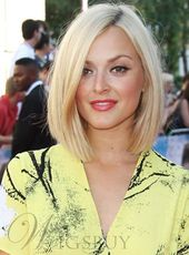 Blunt Cut Short Straight Human Hair Lace Front Wigs 12 Inches