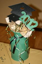 Graduation Table Decor I made for my Son's Party!