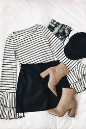 Fashion Good Find Long Sleeve Top With Gray And White Stripes bulunamadı.