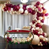 Baby Shower Connoisseur on Instagram: The perfect shades of burgundy and peac