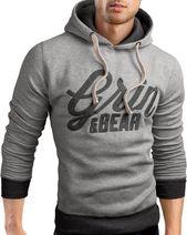 Grin&Bear Slim Fit Hoodie Jacket heavy duty embroidery Sweatshirt – Men's Hoodies