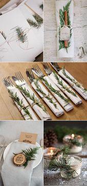 32 idées de décoration de mariage hivernales que vous adorerez