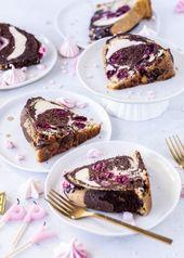 Donauwellen Gugelhupf Rezept mit Chessecake Füllung Rührkuchen einfach lecker … – Kuchen