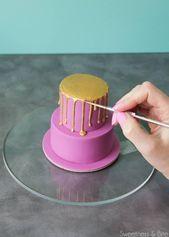 Cómo hacer un mini pastel de goteo   – cake