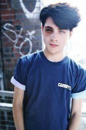 cute teen boy with blue eyes and black hair and a black eye#Skincare #Skin #Clea… – hair