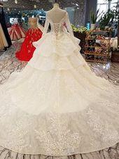 Slim Fit Luxus Long Trail Flower Brautkleid - OSTTY
