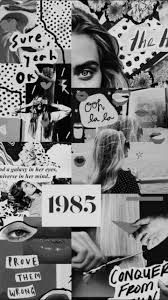 Black And White Collages Google Search In 2020 Black Aesthetic Wallpaper Edgy Wallpaper Aesthetic Wallpapers