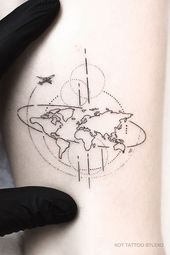 Tattoo on the leg for girls. Small female …