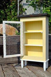 Farmhouse Cabinet Rustic Furniture Chicken Wire Primitive Country Decor Kitchen Storage AC1802 – Decor