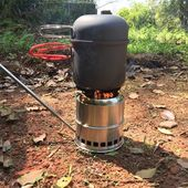 Portable Folding Camping Stove Outdoor Cooking Woo…