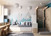 Children's room with a workplace and sports-#children #sports #workplace