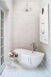 16 attraktive Ideen für Badezimmer mit Akzentwand