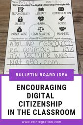 Digital Citizenship Posters and Punch Cards – Editable