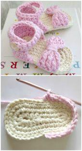 Häkeln Sie Baby Sandalen Muster besten süßesten Tutorials