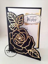 Rose Surprise Wedding ceremony Cutout Card