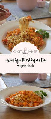 Spaghetti mit vegetarischer Kürbisbolognese – cremige Kürbispasta