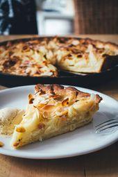 Apfelkuchen mit Mascarponecreme und Mandeln   – food #blogstlove