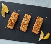 Mustard-Baked Salmon made with RITZ Crackers