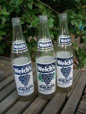 Vintage Welch S Grape Drink Bottles Vintage Soda Bottles Set Of 3 Welch S Sparkling Grape Soda Vintage Soda Bottles Bottle Grape Soda