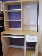 Practical Ikea Mikael Computer Desk With Add On Shelf Unit Shelves Shelf Unit Ikea Mikael
