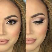 Natürliche Make-up-Looks. Einfach, alltäglich, einfach aussehen und Ideen für braune Augen, Tuto …   – {Beauty} Hair & Make Up