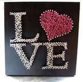 Love String Art ~ Custom Wall Art ~ Personalized String Art ~ Wedding Gift ~ Ret…