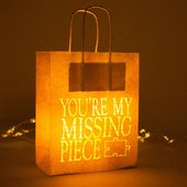You're my Missing Piece – Jigsaw – Valentines Luminary Lantern bag