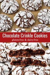 Gluten-Free Chocolate Crinkle Cookies (Dairy-Free
