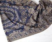 Blauer Paisley-Schal Schöner Pashmina-Schal Boho-Schal Valentinstag Geschenk Romantisches Geschenk Böhmischer Schal Mode Boho-Schal   – Products
