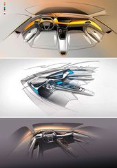 Audi e-tron GT Idea: Inside design sketches #Audi #ConceptCar #Audietron #C…
