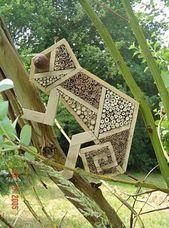 Hôtel aux insectes: 23 idées à installer dans votre jardin – #garden #hotel #ideas # …   – Decoration Garden