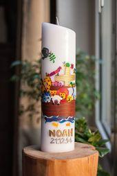 Noahs Taufe: Die Taufkerze {DIY   – taufe