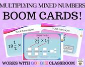 Multiplying Combined Numbers – Growth Playing cards – Works with GOOGLE CLASSROOM