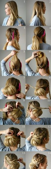 Instructions for a beautiful and super stylish updo – #Detail … … – # Check more at frisuren.frisurde …