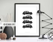 Cars Print, Minimal Wall Decor, Vintage Cars, Classic Cars, Oldsmobile, Vector Art, Black & White, High Quality Print, Office Decor, Gift